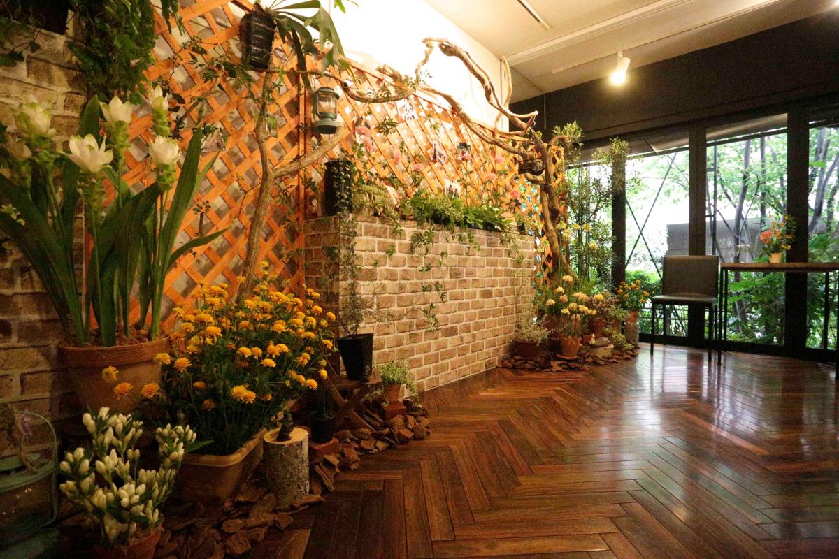 古民家を改装したカフェ